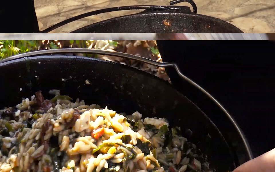 Χορτοφαγικό γιουβέτσι με φέτα
