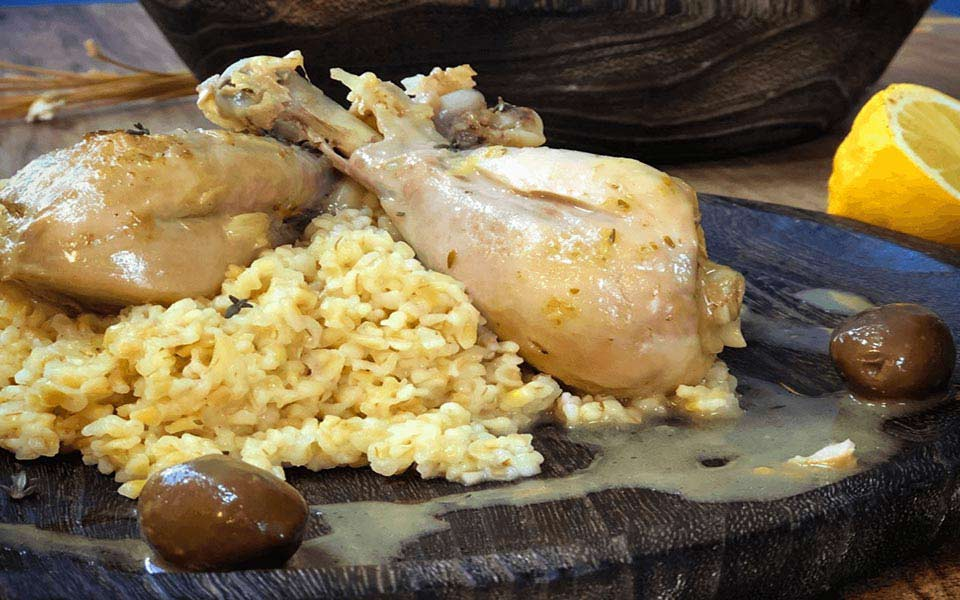 κοτόπουλο λεμονάτο με πλιγούρι